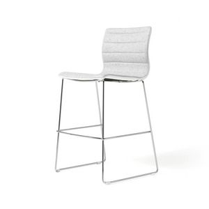 Miss stool, Padded stool with chromed steel frame