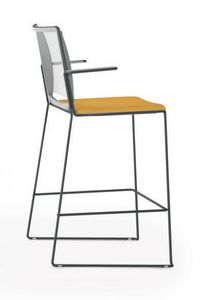 Multi mesh SG, Stackable stool with mesh back