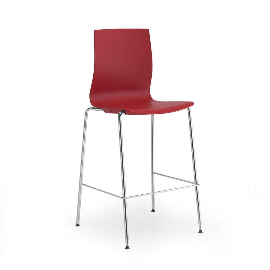 Q3, Metal stool with polypropylene seat and shell