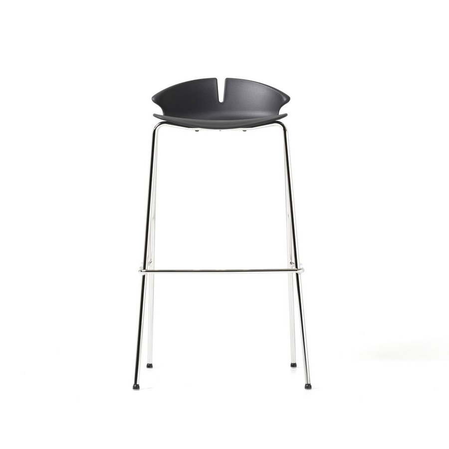 Red Hot stool, Stool with colored polypropylene monocoque