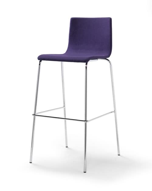 Tesa fabric ST, Padded stool, fabric or eco-leather upholstery, stackable