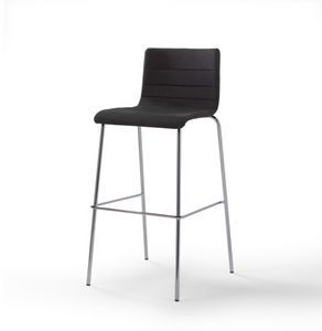 Tesa stripe ST, Upholstered stool, with metal base, stackable