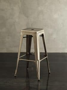 Art. 590 Route 66 barstool, Stool made of metal, in vintage style