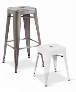 Twix-SGA, Stackable barstool in galvanized metal