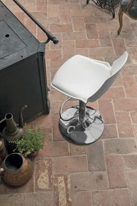 VALENCIA SG193, Stool in chromed metal and polypropylene