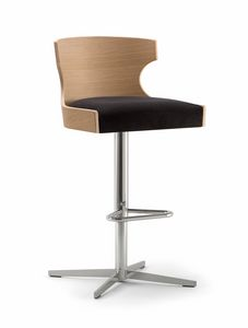 XIE BAR STOOL 052 SG X, Stool with cross base