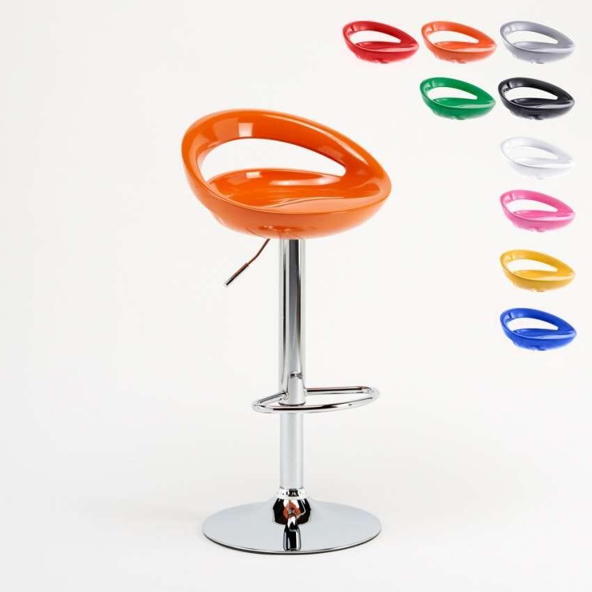 Adjustable kitchen bar stool Hollywood – SGA054HOL, Adjustable high stool, with ergonomic 360° seat