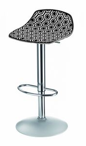 Alhambra Stool 97 AV, Barstool with adjustable base, shell in various colors
