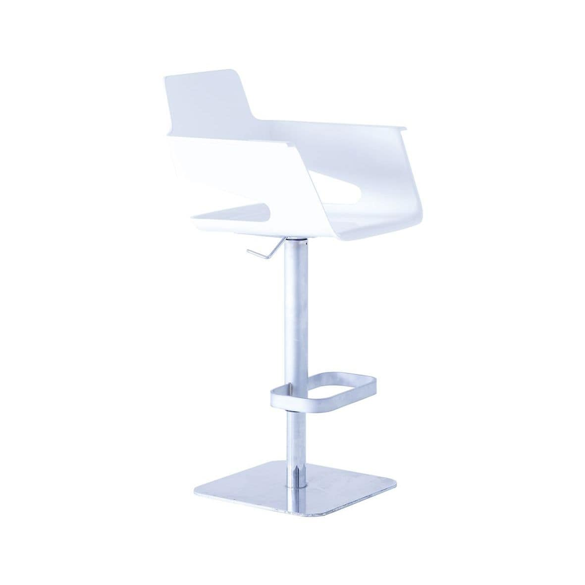 B32 ST, Stool with chrome base ideal for bars and restaurants
