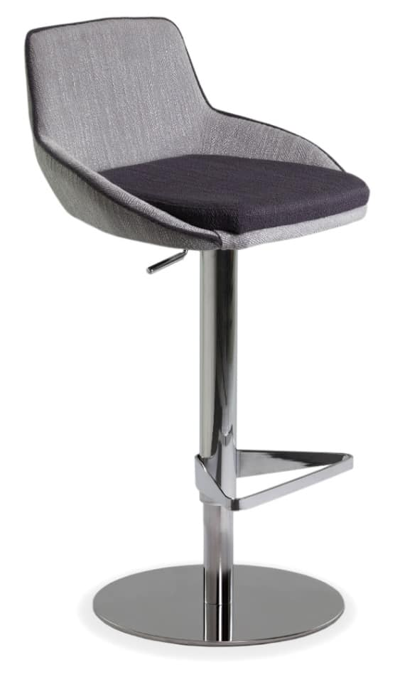 Baxi SG2, Padded stool in metal with footrest and round base