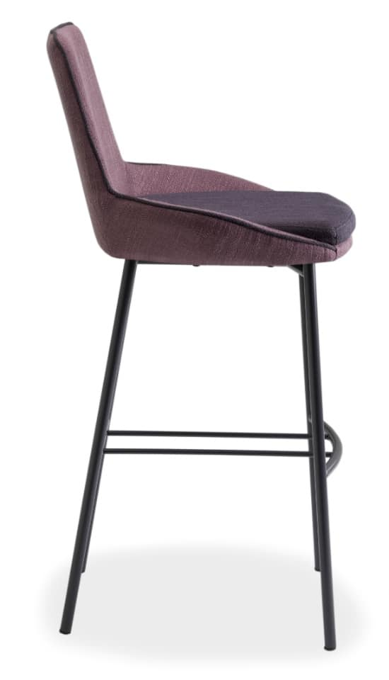 Baxi SGFM, Metal stool with shell upholstered