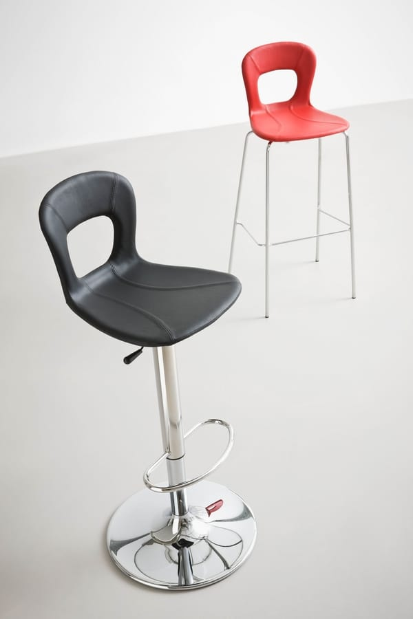 Blog Stool 145 A, Design, swivel, adjustable barstool, with plastic seat