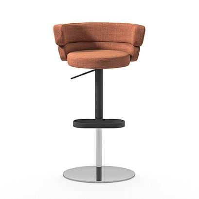 Dam ST, Enveloping stool with gas lift system, for bars