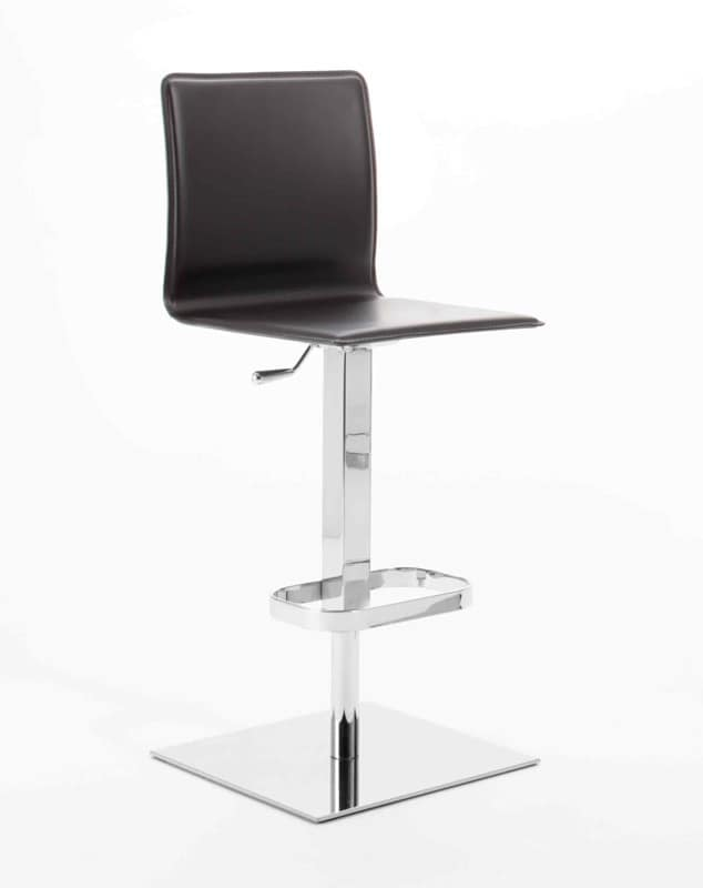 Dodo SG, Modern barstool, seat in plywood, square base