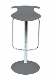 Fix Tom Joy, Swivel barstool with footrest, chromed column