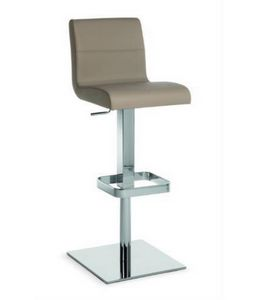 Flexa SG, Metal stool with upholstered seat and back