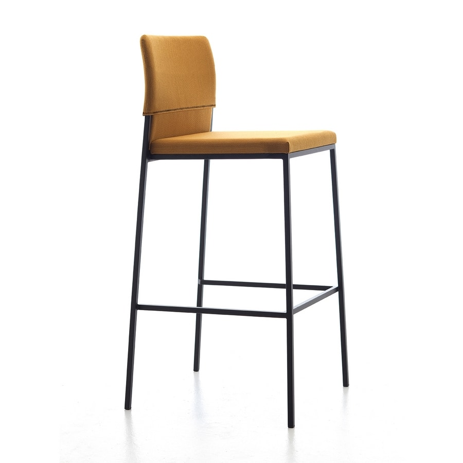 Hat ST, Modern stool, various fabrics and colors, for contract use
