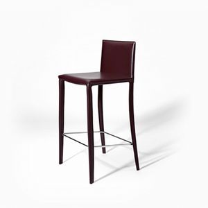 Jury SG, Modern barstool in leather, for kitchens and restaurants