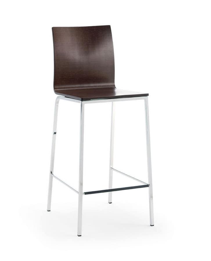 LIRA Barstool, Barstool with metal frame, for kitchens and bars