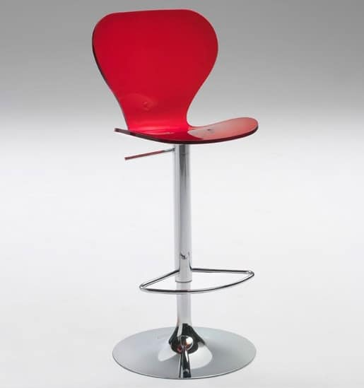 Mademoiselle 4, Height-adjustable stool for bars and restaurants