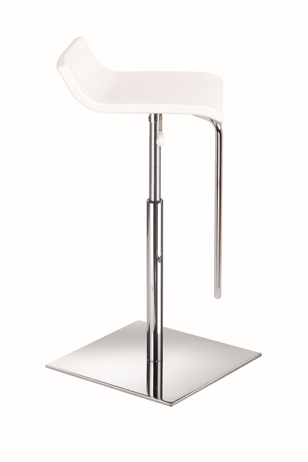 Micro-Mix, Barstool with chromed metal base, gas lift