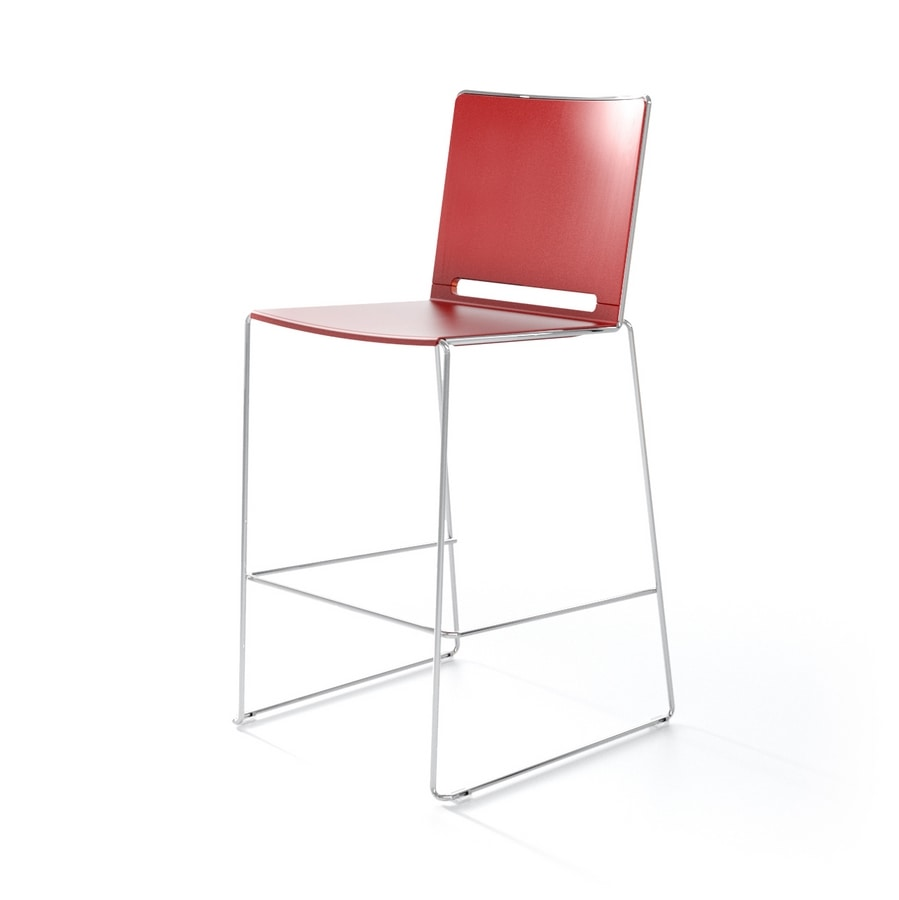 Multi sg, Barstool with metal frame, for kitchen and bar