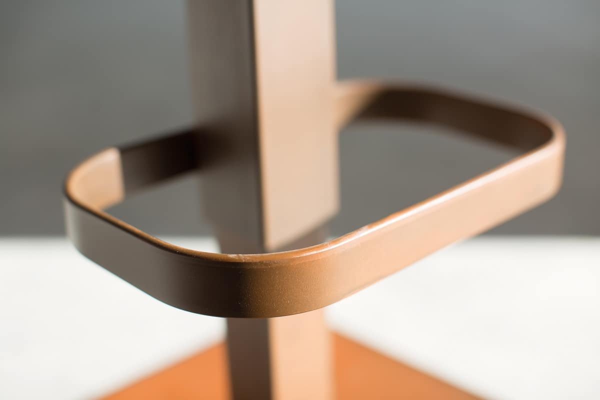 Riese stool metal, Stool with adjustable lift and square metal base