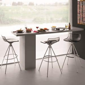 SG 342, Stool in chromed steel, with non-slip feet