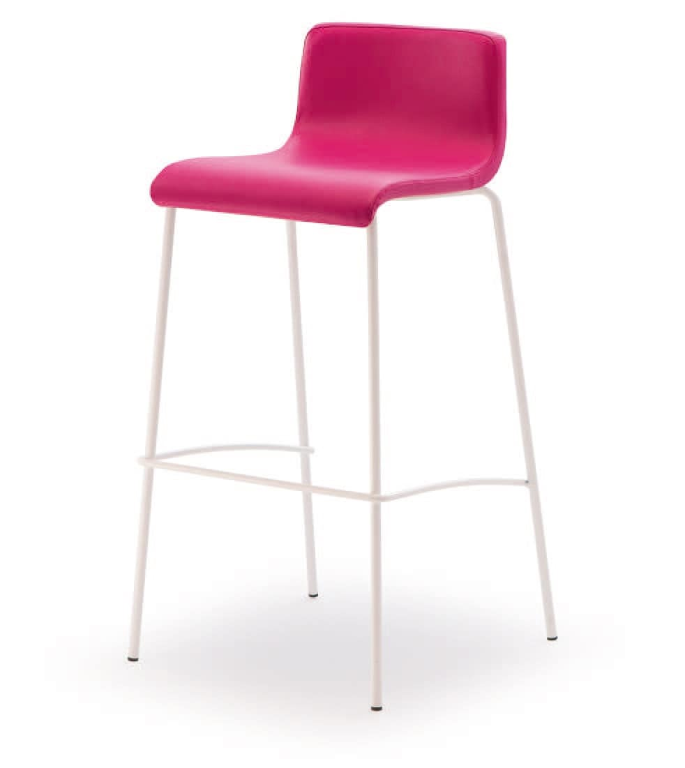 SG 352, Chrome metal stool, with padded seat, for bars