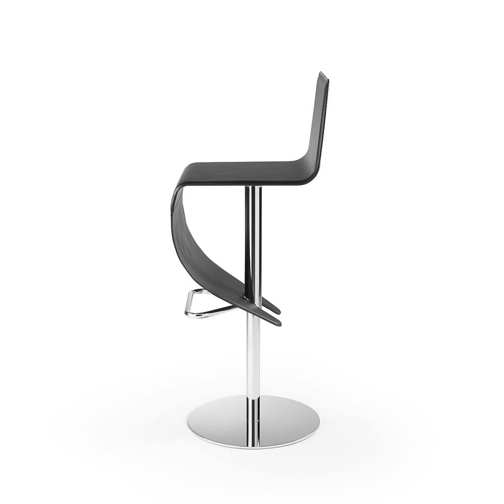 Stella SG, Stool with round base in chromed steel