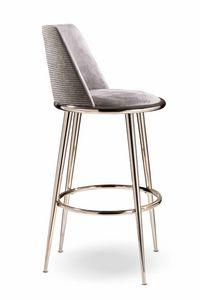 Aurora barstool, Upholstered stool
