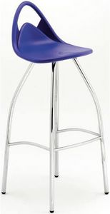 Jimmy, Barstool with chromed steel base, for modern bars
