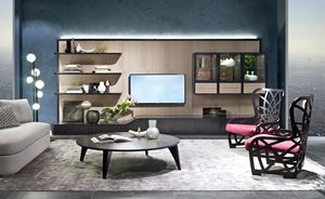 LB48 Desyo bookcase, Modular wall for living room