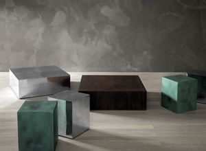 Al, Coffee table in brushed aluminum