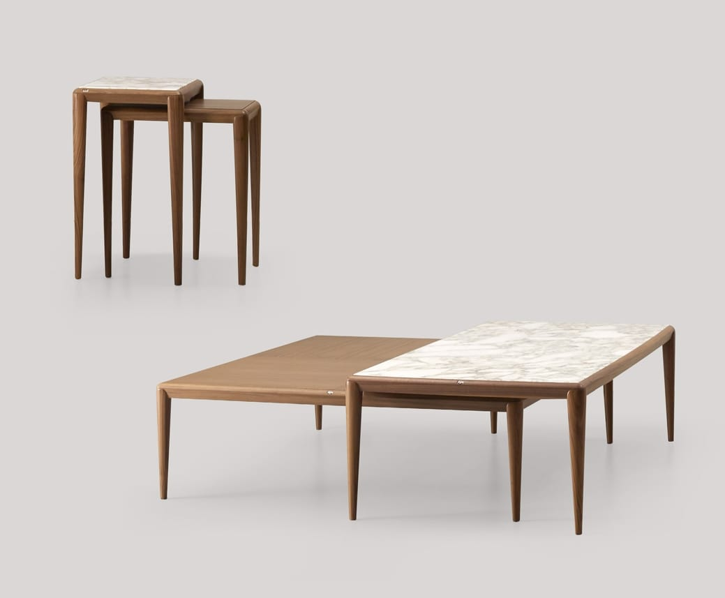 Ambrogio small tables, Wooden tables with minimal design