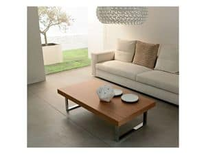 ART. 214/L LITTLE MALE', Coffee table for living rooms, made of wood and painted metal