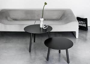 BCN Low, Table in wood and laminate, with 3 legs, for living room