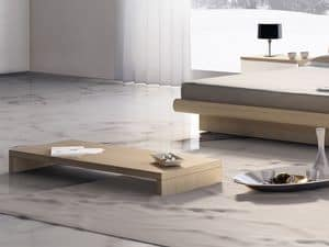 Complements Small Table Wood 05, Coffee table for center hall, for modern hotels