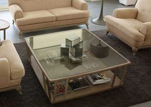 Dedalo coffee table, Modern coffee tables in wood and glass