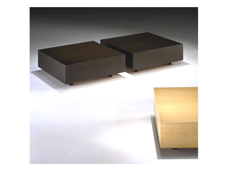 Domino, Coffee table, linear design, for hotel suites