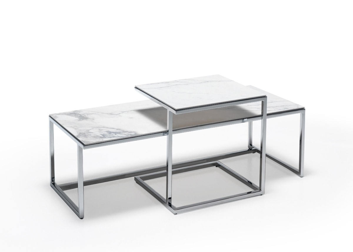 Elite B Coffee Tables With Ceramic Top