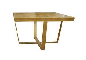 Foglia Oro, Coffee table with glass top