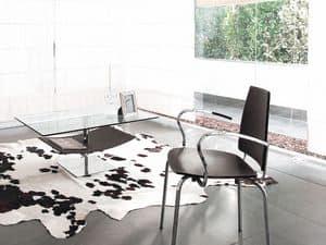 Look 282, Glass coffee table, magazine shelf, for lounge area