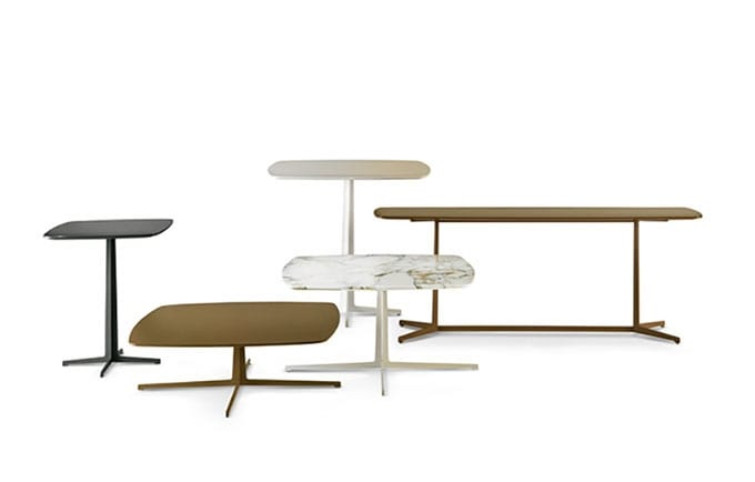 Trilogy, Small tables with a slightly rounded line