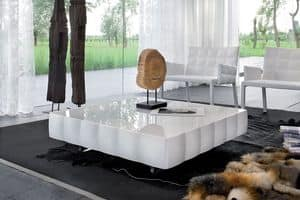 VENICE coffee table, Coffee table in laminated coated with PVC, for waiting room