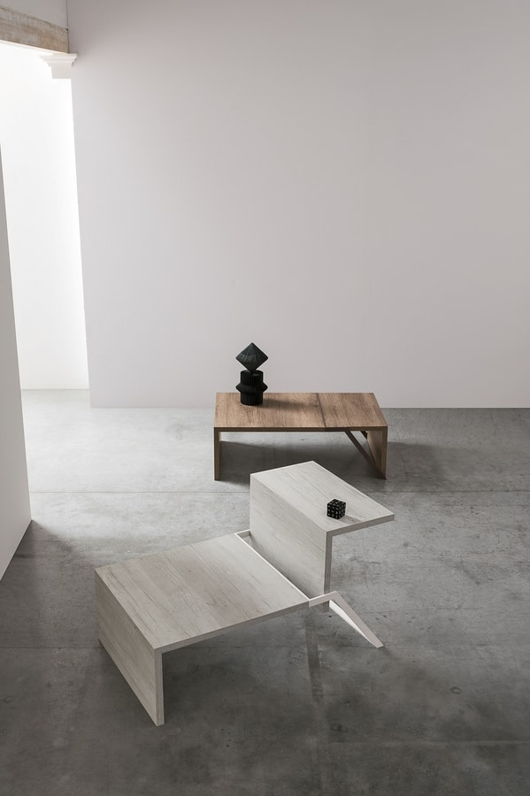 WING TL526, Coffee table with liftable side tray