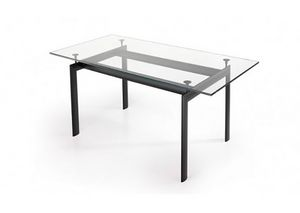 529, Rectangular table with glass top