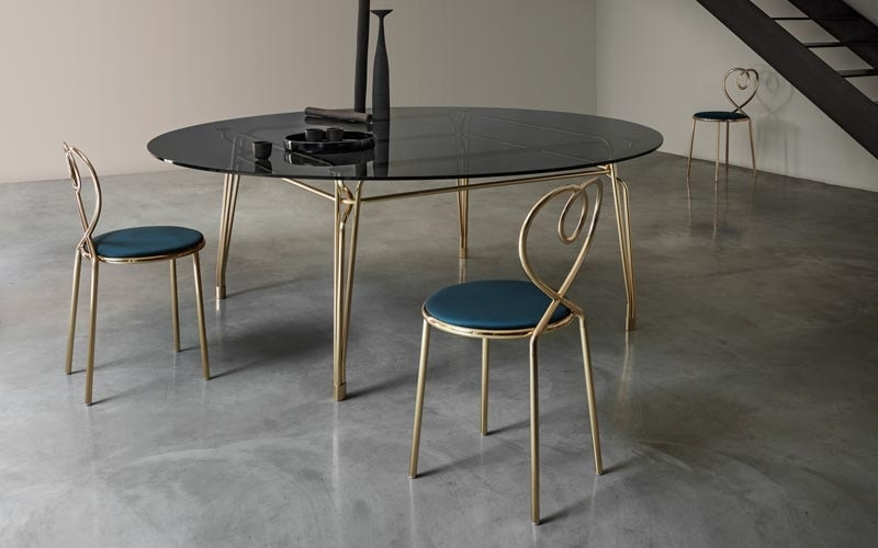 Botany Dining Table, Dining table with glass top