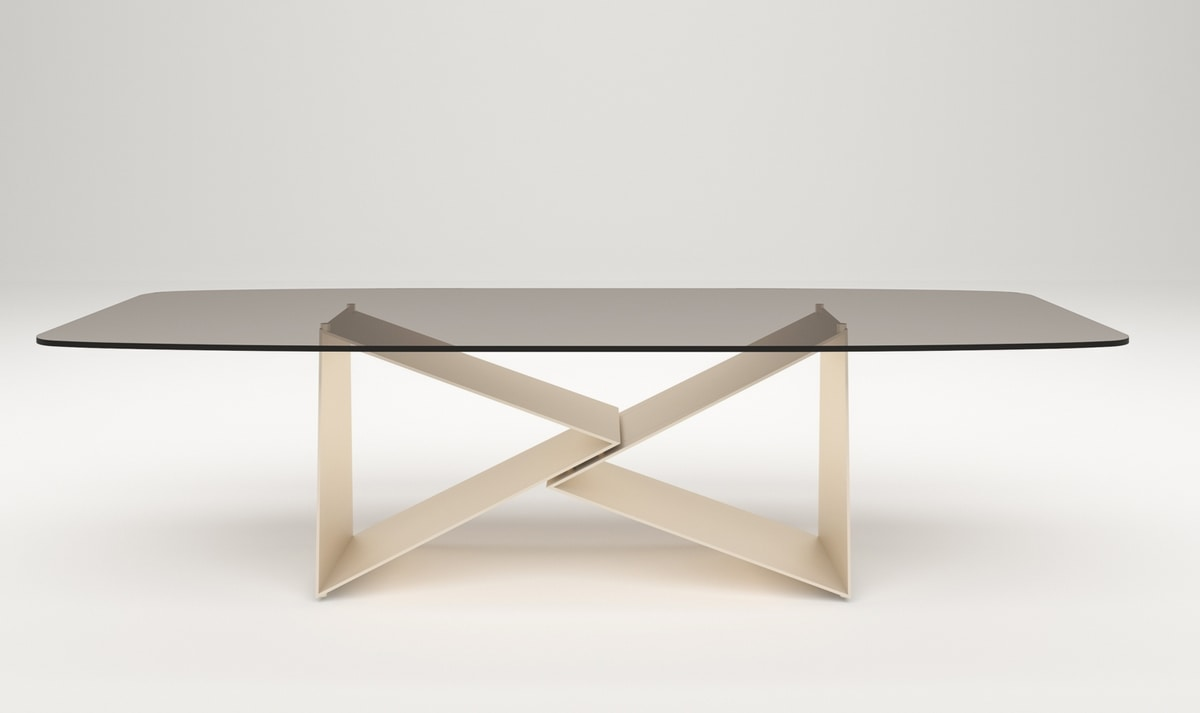 Eiger table, Table with hand-crafted iron base