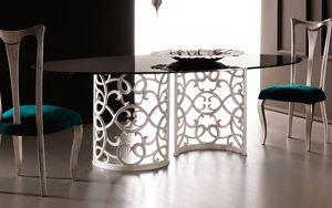 Flora Art. 223-RS1M, Table with elegant aluminum base